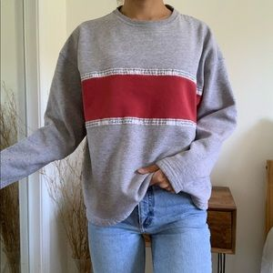 Cabin Klein Jeans Gray and Red Sweatshirt